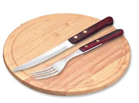 Plato tenedor y cuchillo para el asado for Plato tenedor y cuchillo