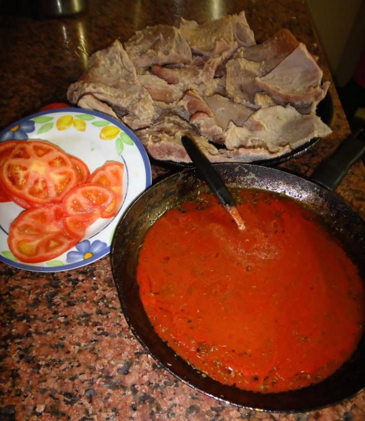 asado matambre salsa
